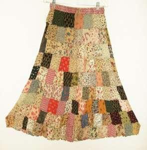 Sacred Threads Hippie Boho SPRING Crinkle Skirt 29428