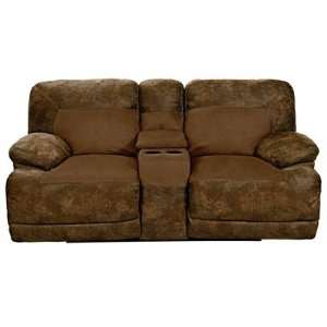 Lane Bradley Double Reclining Console Power Loveseat with