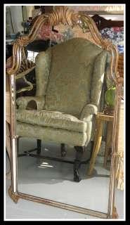 Unusual Antique Baroque Hollywood Regency Mirror NR