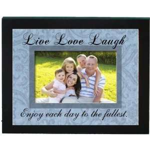 Live Love Laugh   4x6 Word Picture Frame Blue