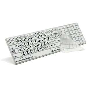 APPLE MAC LARGE PRINT Transparent/white Keyboard Cover