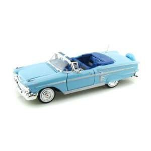 1958 Chevy Impala Convertible 1/24 Blue: Toys & Games