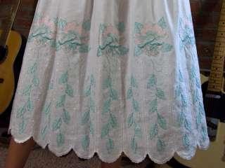 Vtg 80s as 50s White SHELF BUST Wedding Party Dress Strapless Formal