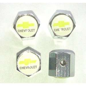 Chevrolet Anti theft Car Wheel Tire Valve Stem Caps White