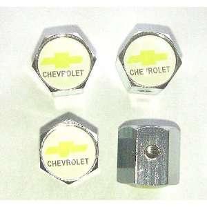 Chevrolet Anti theft Car Wheel Tire Valve Stem Caps White