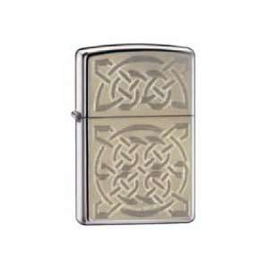 Zippo Custom Lighter   Engraved Celtic Weave & Knots