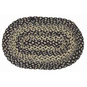 Victorian Heart Navy & Tan Braided Oval Placemat Set of (4