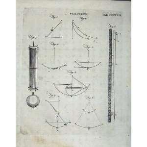 Britannica 1801 Pendulum Diagrams Drawing: Home & Kitchen