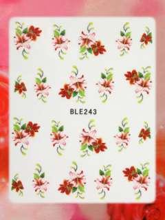 Nail Art STICKER Blumen Motiv Malerei Design #BLE243