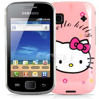 BABY PINK HELLO KITTY DESIGN HARD BACK CASE COVER FOR SAMSUNG GALAXY