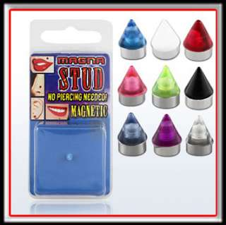 Fake Magnet Piercing Nase Ohr Lippe Bling Hip Hop Cap
