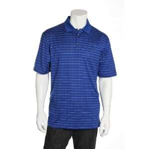 com Nike Golf Blue Striped Short Sleeve Golf Polo Sports & Outdoors