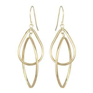Oval Pear Duet 14k Yellow Gold Hoop Earrings Willow Company Jewelry