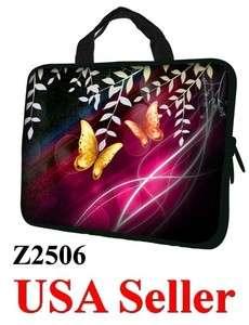 17 17.3 LAPTOP SLEEVE BAG CASE w HIDDEN HANDLE BUTTERFLY Z2506   USA