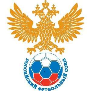 Russian Football Union logo sticker vinyl decal 5 x 4.2
