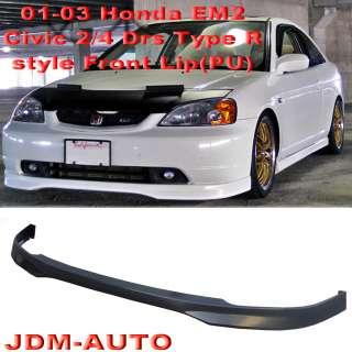 01 03 Honda Civic Type R Front Bumper Lip PU 2 Drs EM2