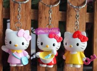 6PCS Hello kitty character Key chain bag hang pendant 3