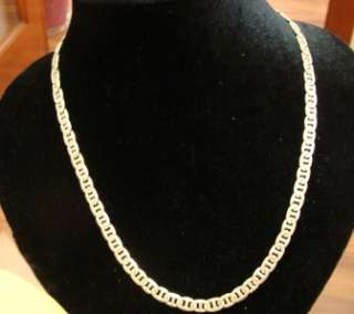 GUCCI STERLING SILVER WIDE CHAIN NECKLACE ITALY 32.3 GR