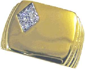 WHOLESALE 6 PIECE LOT CUBIC ZIRCONIAN 18KT GOLD GP MENS SIGNET RINGS