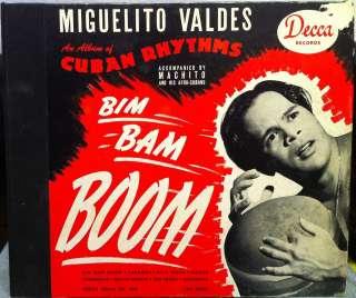 MIGUELITO VALDES bim bam boom 4x 78 Rpm DECCA 344 VG+