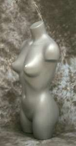 352434 FEMALE 3/4 TORSO MANNEQUIN GREY +LOOP # 5007