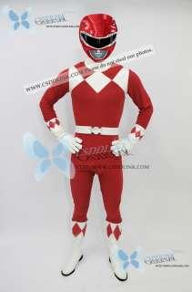 Power Red Ranger Cosplay Costume Rangers Any Sizes CS