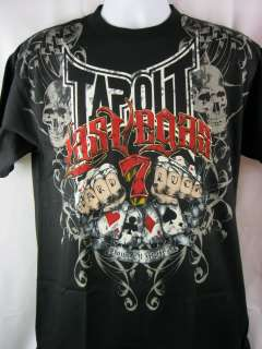 TAPOUT Hard Luck Las Vegas Mens Black T shirt New