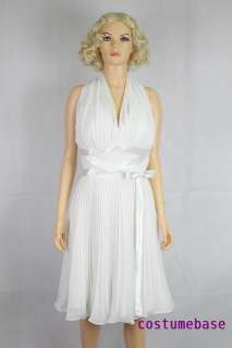 Sexy Marilyn Monroes Subway Iconic White Seven Year Itch Dress