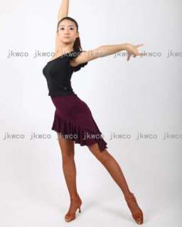 New latin salsa tango chacha ballroom dance dress top + skirt dance