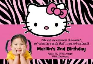 15 Hello Kitty Photo Personalized Birthday Invitation