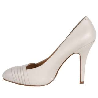 Nine West Womens Shoes Quircky Off White Heels Leather