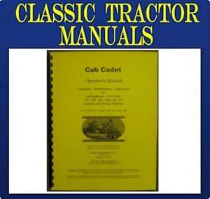 Cub Cadet 73 106 107 126 and 147 Operators Maint Manual