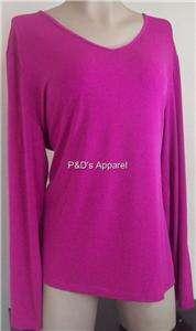 Susan Graver Womens Plus Size Clothing 1X 2X 3X Purple Shirt Top