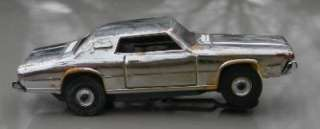 AURORA T/JET 67 FORD T.BIRD IN CHROME PLATED (PROMO CAR VERY RARE
