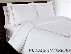 HOTEL STYLE IMPERIAL WHITE / GOLD KING DUVET COVER SET