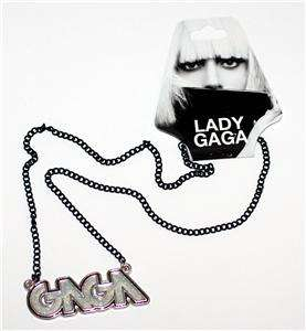 LADY GAGA Pop Dance NAME LOGO PENDANT 20 NECKLACE New