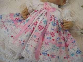 HANNAHS BOUTIQUE BABY DOLLS CLOTHES DRESS & HEADBAND SET REBORN DOLL