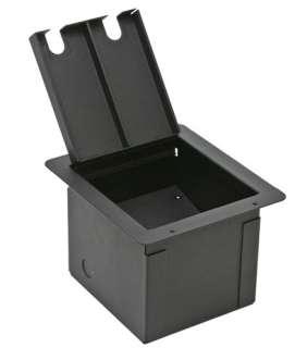Stage Audio Metal Floor Box w/ Blank Customizable Plate 759681004165
