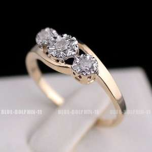 Genuine Natural Diamonds Solid 9ct Yellow Gold Engagement Wedding