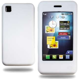 SOFT SILICON GEL SKIN CASE COVER WHITE FOR LG GD510 POP