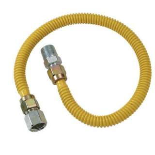 36 in. ProCoat Coated Stainless Steel Gas Appliance Connector with