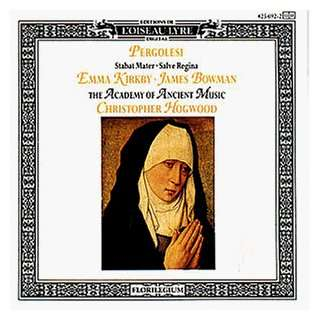 , Bowman, Hogwood, Aam, Giovanni Battista Pergolesi  Musik