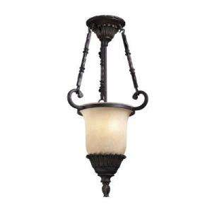 TRUMP HOME Ardsley Collection 2 Light 14 in. Hanging Antique Bronze