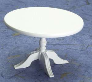 dollhouse MINI KITCHEN PEDESTAL TABLE ROUND FURNITURE