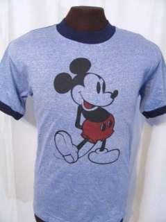 vintage UNWORN MICKEY MOUSE RINGER 70s retro t shirt M