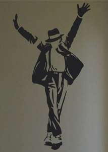 Michael Jackson Silhouette Wall Quote Decor Decal 43