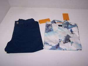 BOYS PAUL SMITH PANTS & SHIRT SET SIZE 3/4 NWT BLUE
