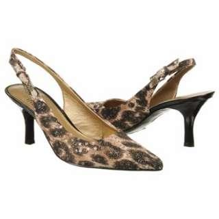 Womens AK Anne Klein Harquin Brown Glitzy Leopard Shoes