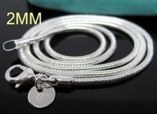 10pcs silver plated 2mm snake chain necklace 16 24 inch