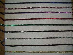 10 YARDS 6MM SEQUIN STRING SILVER, GOLD, BROWN, PINK, BLUE, RED